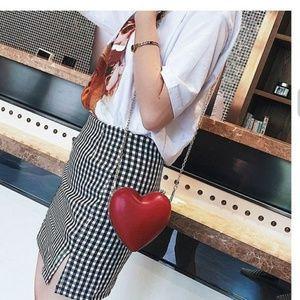 Handbags - New red heart shape purse